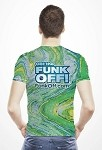 FUNK OFF! T-Shirt, Green Swirl