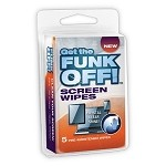 FUNK OFF! Screen Wipes, 5 Count Clamshell