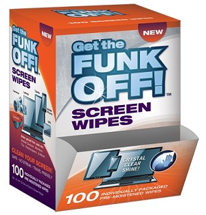 FUNK OFF! Screen Wipes, 100 Count Dispenser Box