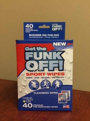 FUNK OFF! Sport wipes, 40 Count Box